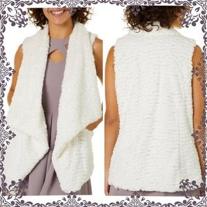 NWT Gorgeous White super soft faux fur vest